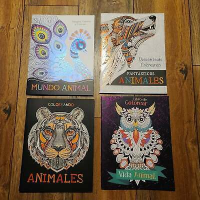 Adult Coloring Books Stress Relieving Designs - Animals - Set of 4