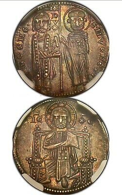 1253-68 Italy Grosso Venice Paolucci-1 AU Details NGC Obv Damage
