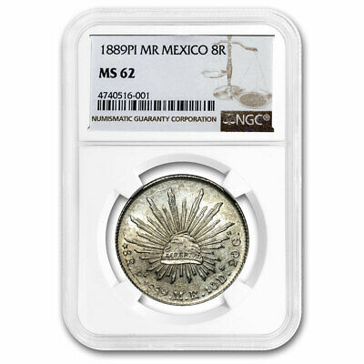 1889-Pi MR Mexico Silver 8 Reales MS-62 NGC - SKU#210953