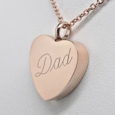 Rose Gold Dad Urn Necklace Cremation Jewelry Father Urn Cremation Urn Pendant 26 99 Picclick
