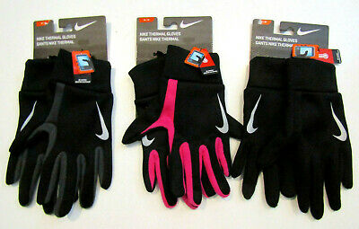 NIKE Thermal Running Gloves Black Gray Pink Unisex S M L XL Freedom to Scroll