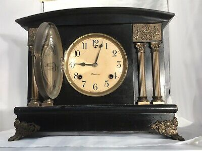 Vintage Antique Usa The Sessions Clock Striking On Bell And Coiled With Pendulum
