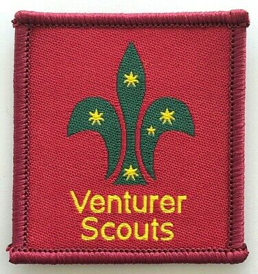 Venturer Scout Leader Badge - old Scouts Australia logo - Uniform shoulder patch