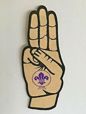 Scout Promise Badge (Boy Scouts, World Scouting, salute)