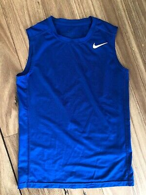Boys Nike Pro Dri-Fit Child Medium Blue Sleeveless Top. Brighton VIC 3186