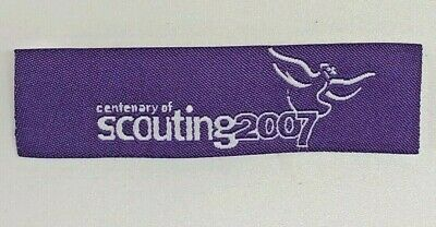 2007 World Centenary of Scouting Badge (with Dove of Peace), International Tape
