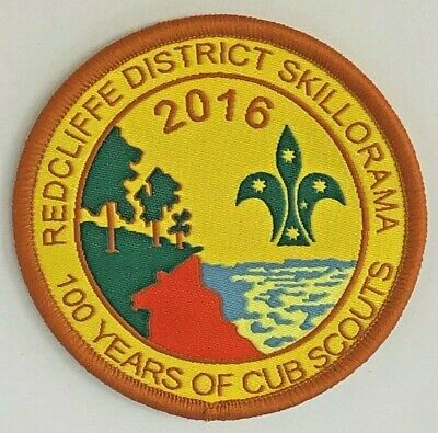 100 Years of Cub Scouts - 2016 Redcliffe District Skillorama Badge - Australia