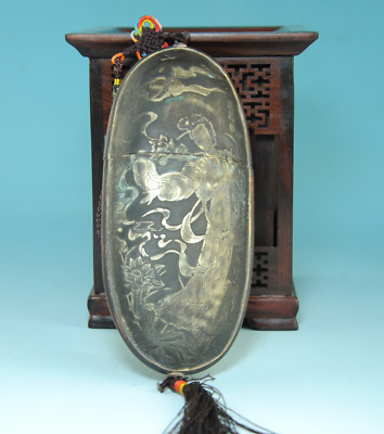 Old Chinese hand-made Copper Dynasty Palace Old belle Spectacles Case Box bb02B