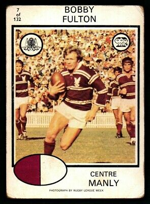 Scanlens Rugby League Trading Cards 1975-7 Bobby Fulton Manly Warringah