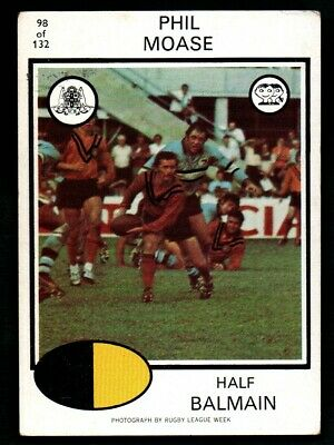 Scanlens Rugby League Trading Cards 1975-98 Phil Moase Balmain