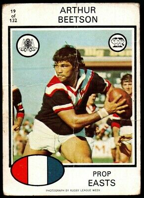 Scanlens Rugby League Trading Cards 1975-19 Arthur Beetson Eastern Suburbs