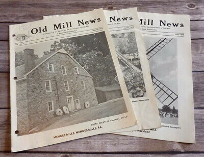 Vintage Old Mill News Publication Magazines Set of 3 Volume 1 No. 2 Thru 4 1973