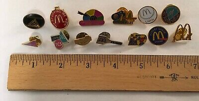 Group Vintage Mcdonald's Employee Crew  Pin Lapel Collector Club Most 1980S 3