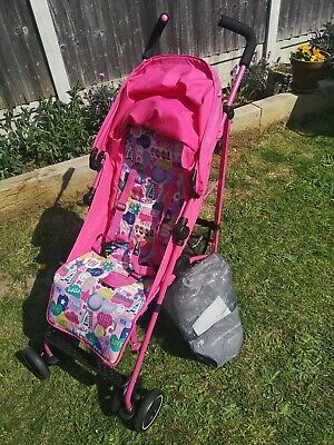 Mothercare pink stroller very good condition barely used with waterproof apron