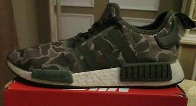 Adidas Men/'s NMD/_R1 SHOES DUCK CAMO SESAME//STEEL//GREEN D96617 BRAND NEW IN BOX