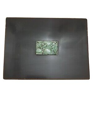 Antique Yamanaka Jade & Enamel Over Gilded Copper Or Bronze Box