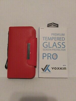 COMBO Samsung Galaxy Note 5 Glass Screen Protector Voxkin + Magnetic Folio Case