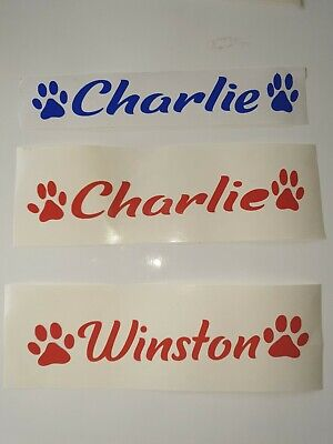 Personalised Pet Name Vinyl Decal Sticker for Dog/Cat/Hamster/ Cage Bowl/Kennel