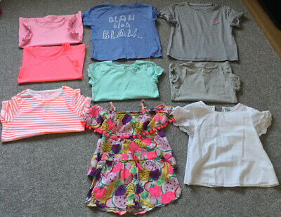 Bundle Of Girls Clothes T Shirts, Tops And Matching Set Aged 7 Years