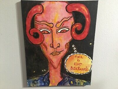 American Pop Artist Yuly7 Devil Original Painting 16x20 See All Of Our Art 28 88 Picclick