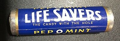 Vintage Lifesavers PEP-O-MINT Candy Sealed Roll Peppermint Beech Nut NY,NY Cool