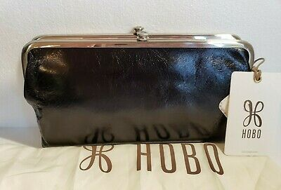 NWT Hobo International Minnie French Wallet Leather Vintage Look RP $78 Eggplant