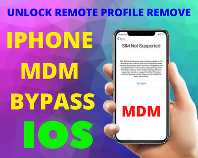 Iphone Mdm Bypass, Unlock Remote Profile Remove I Ios 13.3.1 I [Instant]