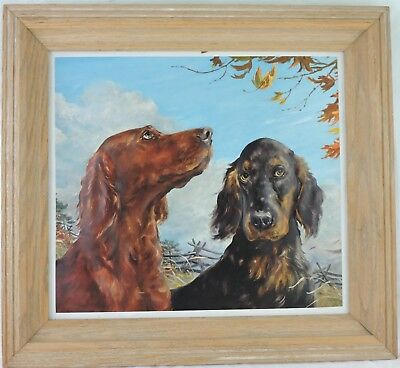 Setter Or Hound Rust & Brown Dog 2D Paper Art Framed Wall Hanging Picture Print