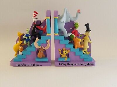 "Hallmark Dr. Seuss Robert Chad Designed ""The Ends"" Bookends"