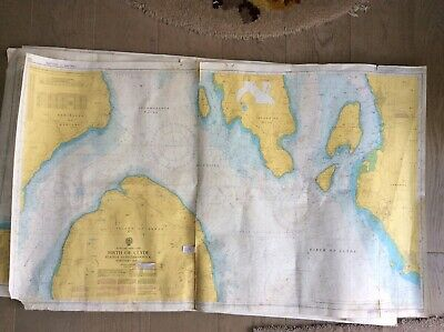 Vintage Admiralty Charts. 5 sheets. Scotland - West Coast - Firth of Clyde