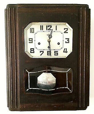 Vintage antique 'GIROD' wall clock, art deco period in good working condition.