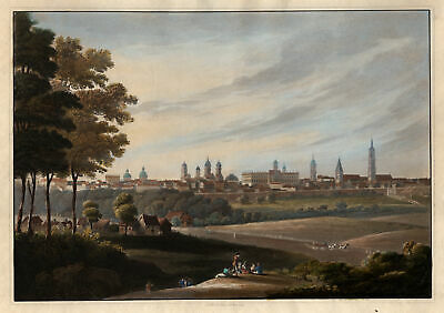 BERLIN GESAMTANSICHT Original Aquatinta Bowyer 1815