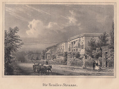 BERLIN BENDLERSTRASSE Original Lithografie Gropius 1840