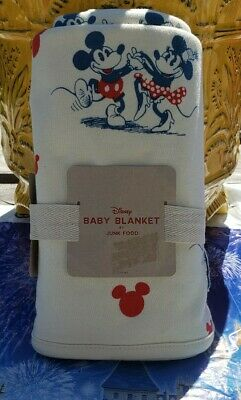 Disney Junk Food Baby Blanket New Mickey & Minnie Mouse