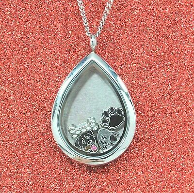 Rottweiler Tear Memory Locket Necklace || Dog Memorial Jewelry || Engraveable