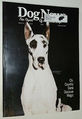 Dog News Illustrated Magazine Great Dane Cover +Articles Feb. 1997