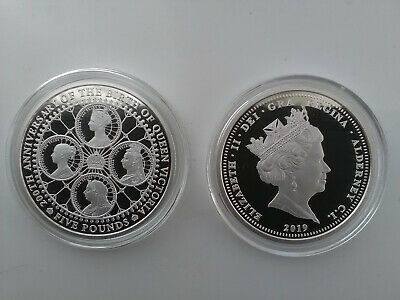 NEW 200th Anniversary of Queen Victoria £5 Coin (Four Portraits) in capsule bu