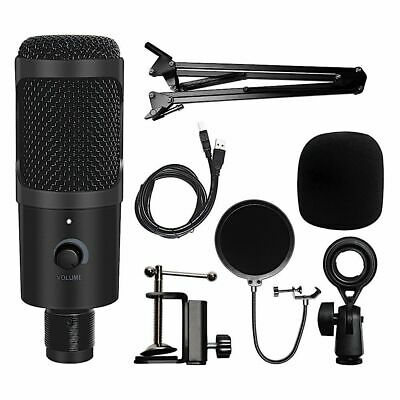 Usb Recording Microphone With Stand Condenser For Laptop Pc Karaoke Streaming