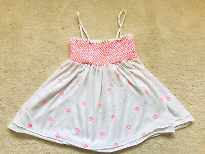 Girls White And Pink Strappy Summer Top Age 7-8 Years From Zara