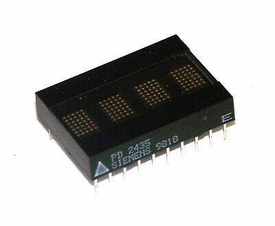 Siemens PD2435 Hi Efficency Red CMOS 4-Character 5x7 Dot Matrix Display