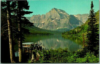 "1950s GLACIER NATIONAL PARK Montana Postcard ""Excursion Boat on JOSEPHINE LAKE"""