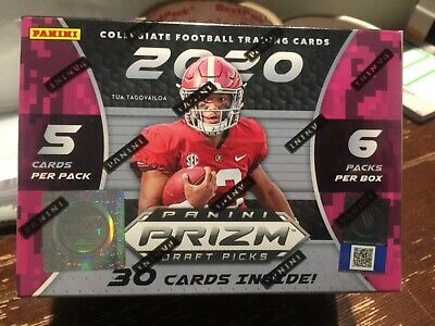 2020 Panini Prizm Collegiate Draft Picks Football Blaster Box joe burrow tua hot