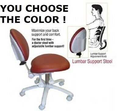 Galaxy 2250 Lumbar Support Dental Assistant Stool Doctor's Chair 17 COLORS