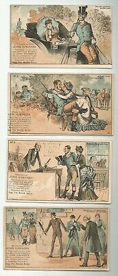 Set 4 Victorian Trade Cards Bar Harbor Me Maine Shoes Rodick House John Suminsby