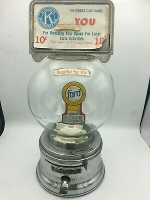 Rare Antique Ford Gumball Machine w/ Lock and Key - See description for details!