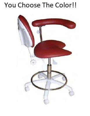 New Galaxy Dental 2021R Assistant's Hygienist Chair Stool With Backrest