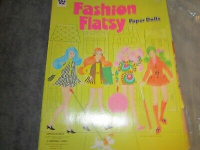 uncut 1971 fashion flatsy paper dolls