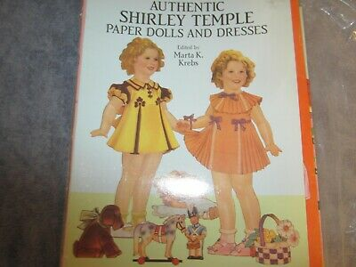 uncut 1991 shirley temple paper dolls and dresses