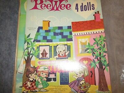 1967 uncut peewee 4 dolls paper dolls and dresses