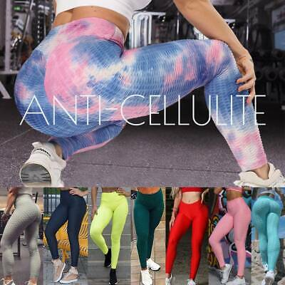 Womens Scrunch Anti Cellulite Butt Lift Leggings Ruched Yoga Pants Booty Workout